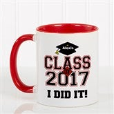 Cheers to the Graduate Personalized Coffee Mug 11oz.- Red - 3833-R
