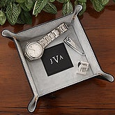 Monogram Valet Tray - Black - 3868-B