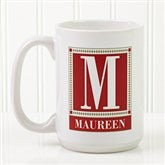 Letter Perfect Personalized Coffee Mug- 15 oz.- White - 3899-L