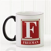 Letter Perfect Personalized Coffee Mug- 11oz.- Black - 3899-B