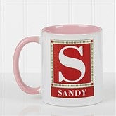 Letter Perfect Personalized Coffee Mug- 11oz.- Pink - 3899-P