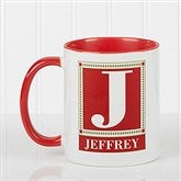 Letter Perfect Personalized Coffee Mug- 11oz.- Red - 3899-R