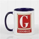 Letter Perfect Personalized Coffee Mug- 11oz.- Blue - 3899-BL