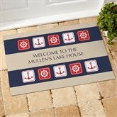 Ahoy! Nautical Personalized Doormat - 3910