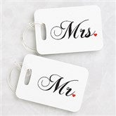 Mr. and Mrs. Personalized Luggage Tags - 3921