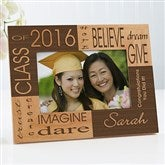 Dream & Believe Personalized Picture Frame- 4 x 6 - 4000-S