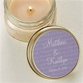 Love Is Patient Personalized Mason Jar Candle Favors - 4004