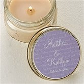 Love Is Patient Candle Tin Favors - 4004