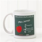 Chalkboard Teacher Personalized Coffee Mug- 11 oz.- White - 4040-S