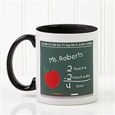 Chalkboard Teacher Personalized Coffee Mug- 11 oz.- Black - 4040-B