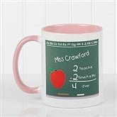 Chalkboard Teacher Personalized Coffee Mug- 11 oz.- Pink - 4040-P