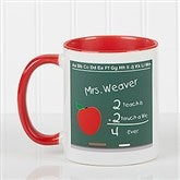 Chalkboard Teacher Personalized Coffee Mug- 11 oz.- Red - 4040-R