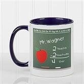 Chalkboard Teacher Personalized Coffee Mug- 11 oz.- Blue - 4040-BL