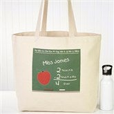 Chalkboard Teacher Personalized Tote Bag - 4041