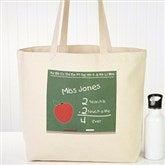 Chalkboard Teacher Personalized Tote Bag - 4041