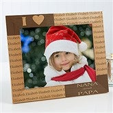Our Loving Hearts Holiday Personalized Frame- 8 x 10 - 4123-L