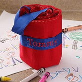 Personalized Crayon Roll-up Case - Red - 4137R