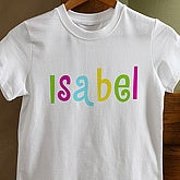 Kid's Personalized Name©- Youth T-Shirt - 4165-YT