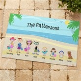 Summer Family Character Personalized Doormat - 4186