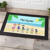 Summer Family Character Personalized Doormat- 20x35 - 4186-M