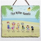 Summer Family Characters© Personalized Slate Plaque - 4187
