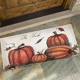 Autumn Pumpkin Patch Personalized Oversized Doormat- 24x48 - 4190-O