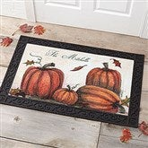 Autumn Pumpkin Patch Personalized Doormat- 20x35 - 4190-M