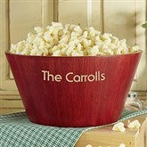 Personalized Red Bamboo Popcorn Bowl- Large - 4242-NL