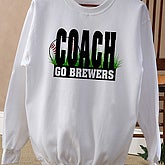Baseball Coach Adult Sweatshirt - 4261S