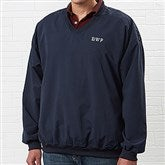 Golfer's Navy Wind Shirt - Monogram - 4266-M
