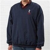 Golfer's Navy Wind Shirt - Golfer Silhouette - 4266-GS