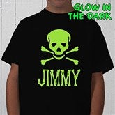 Glow-in-the-Dark Skull- Youth T-Shirt - 4283-T