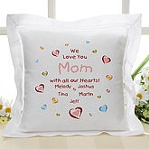 All Our Hearts Collection Linen Keepsake Pillow - 4322