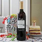 Personalized Birthday Wine Bottle Art - Gift Box - 4324D-GB