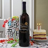 Personalized Birthday Wine Bottle Art - Balloons - 4324D-B