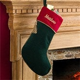 velvet splendor personalized green christmas stockings - Red And Green Christmas Stockings