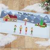 Winter Family Characters Personalized Oversized Doormat - 4418-O