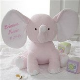 Embroidered Jumbo  Plush Elephant - Pink - 4428-P