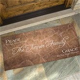 Peaceful Welcome Personalized Oversized Doormat-24x48 - 4450-O