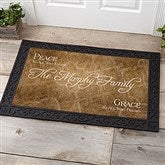 Peaceful Welcome Personalized Doormat- 20x35 - 4450-M