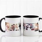 5 Photo Collage Personalized Coffee Mug 11oz.- Black - 4463-B