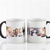 5 Photo Collage Personalized Coffee Mug 11oz.- Black - 4463-B