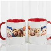 5 Photo Collage Personalized Coffee Mug 11oz.- Red - 4463-R