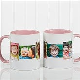 5 Photo Collage Personalized Coffee Mug 11oz.- Pink - 4463-P
