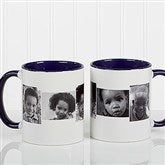 5 Photo Collage Personalized Coffee Mug 11oz.- Blue - 4463-BL