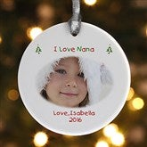 1-Sided Christmas Photo Wishes Personalized Ornament - 4481-1