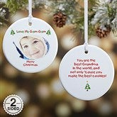 2-Sided Christmas Photo Wishes Personalized Ornament - 4481-2
