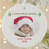 1-Sided Christmas Photo Wishes Personalized Ornament- Large - 4481-1L