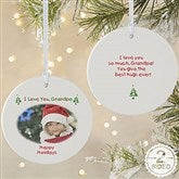2-Sided Christmas Photo Wishes Personalized Ornament-Large - 4481-2L