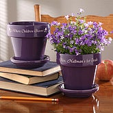 Where Children Bloom Teacher's Personalized Flower Pot- Purple - 4498-P